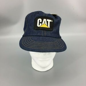 Vintage CAT Caterpillar Diesel Denim Snapback Hat